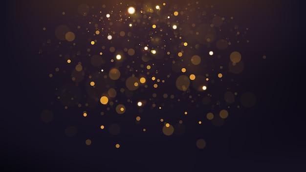 抽象的なゴールドbokeh散在