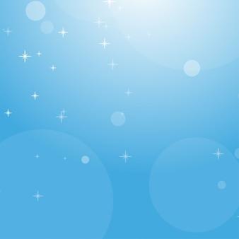 Покрасьте абстрактную предпосылку голубого неба с bokeh и звездами.