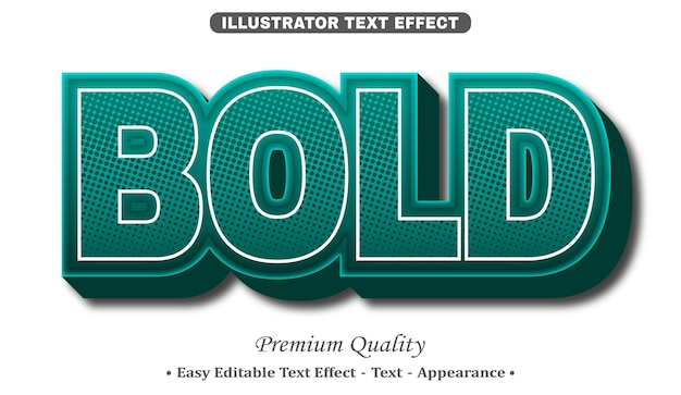 Bold 3d editable text style effect