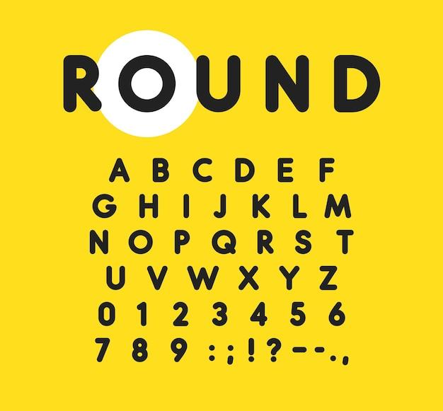 Жирный алфавит с закругленными и мягкими углами, современный шрифт для рекламы веб-мероприятий, детских вечеринок, другое