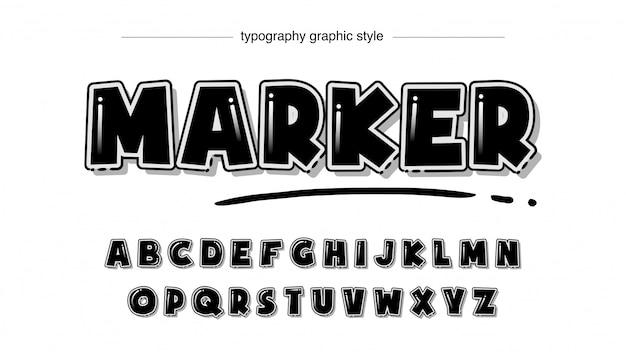 Bold black marker художественная типография