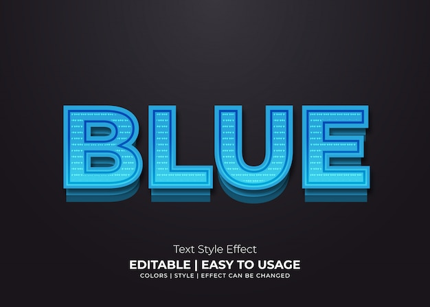 Bold blue text effect with paper style