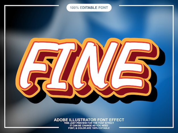 Bold cartton text style font effect