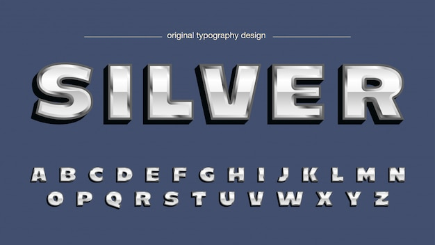 Bold chrome silver художественный шрифт
