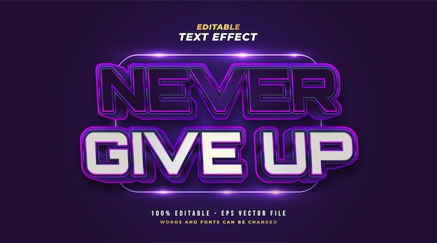 Bold colorful retro text style with embossed effect. editable text style effect Premium Vector