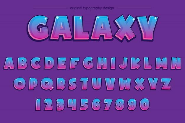 Bold comic purple typography design