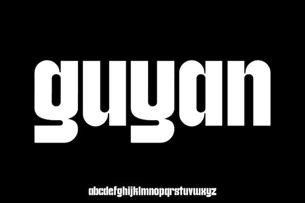 Bold display alphabet font vector