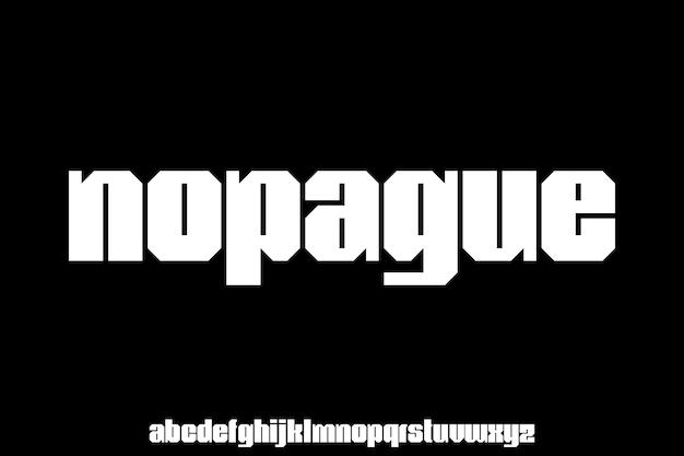 太字表示アルファベットベクトルタイプセット