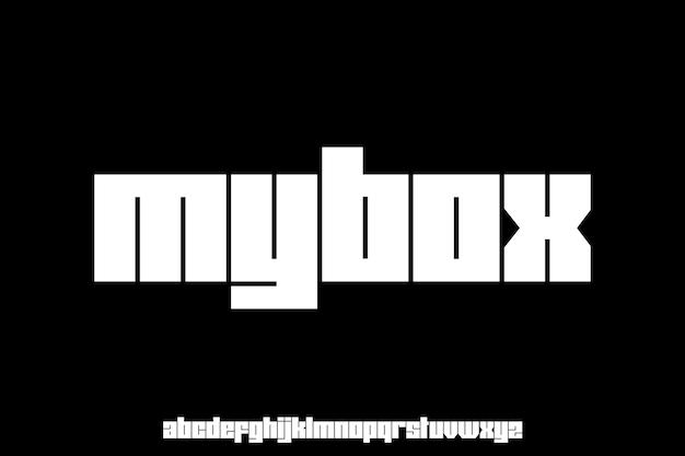 Bold display font   type set