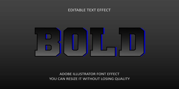 Bold editable text effect