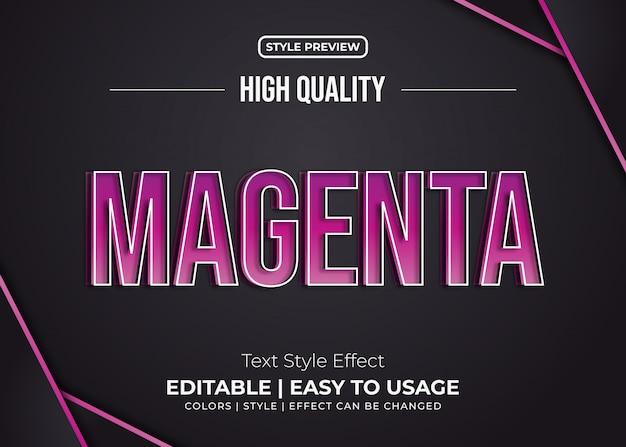 Эффект стиля bold embossed magenta text style