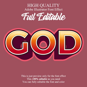 Bold extrude style editable font effect