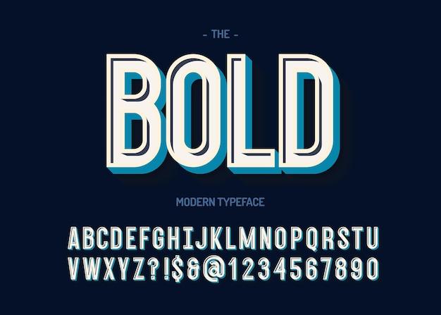 굵은 글꼴 3d 스타일 일러스트