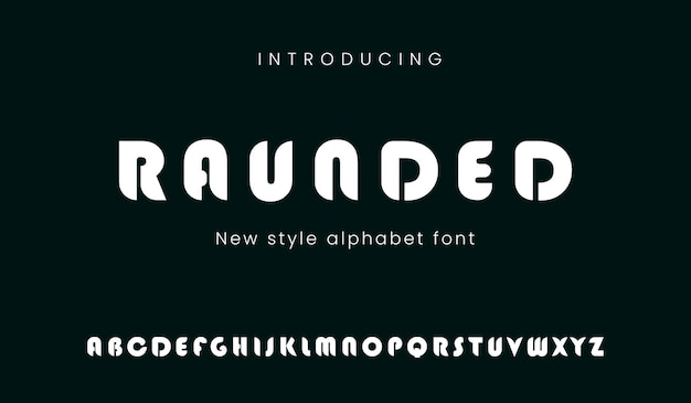 Bold font with futuristic look style techno