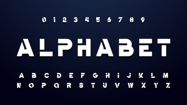 Геометрическая технология bold font