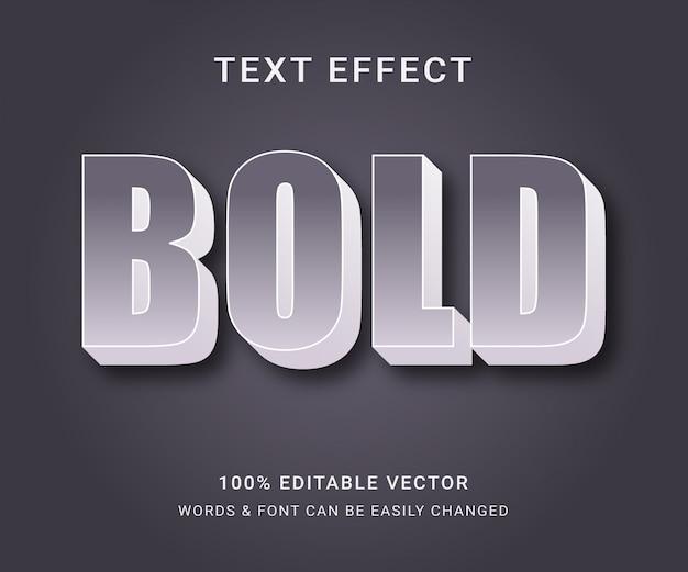 Bold полный редактируемый текстовый эффект