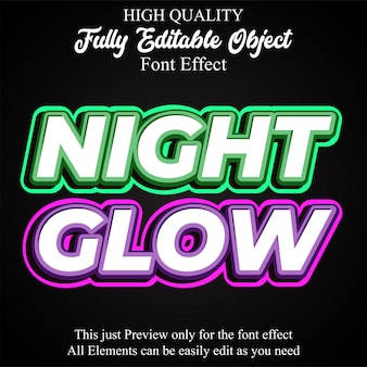 Bold glowing text style editable font effect
