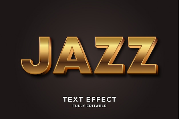 Элегантный bold gold jazz text effect