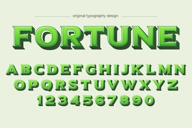Bold green sans serif typography design