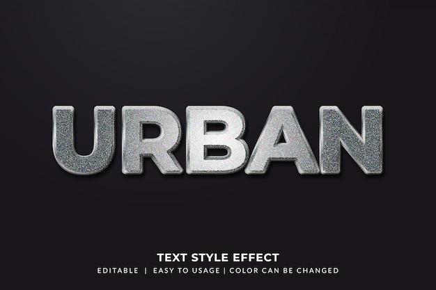 Эффект стиля bold metal text с текстурой