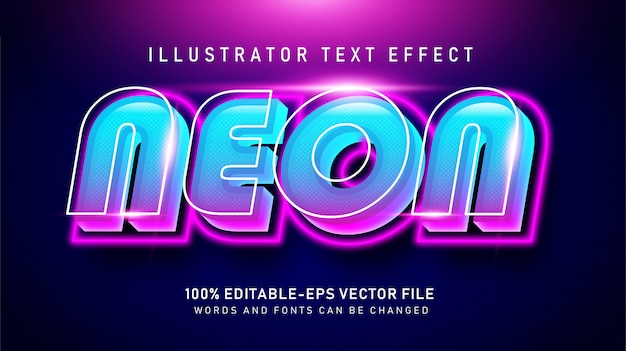 Bold neon  text style effect
