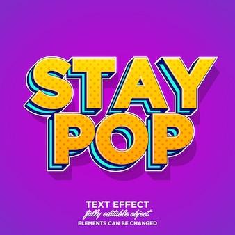 Bold pop art text effect