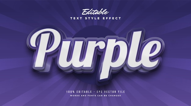 Bold purple text in vintage style with embossed effect