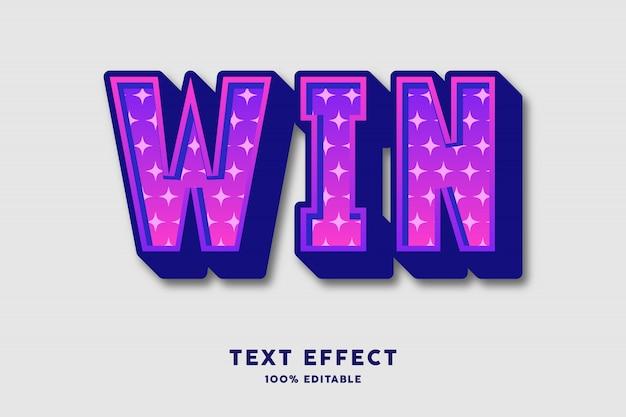 Жирный фиолетовый с эффектом текста в виде звезды