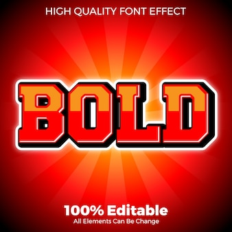 Bold red with gloss effect style editable font