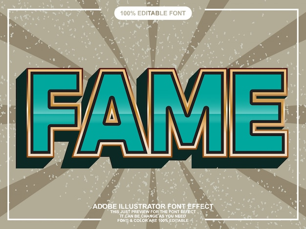 Rustic bold text style font effect Vector | Premium Download