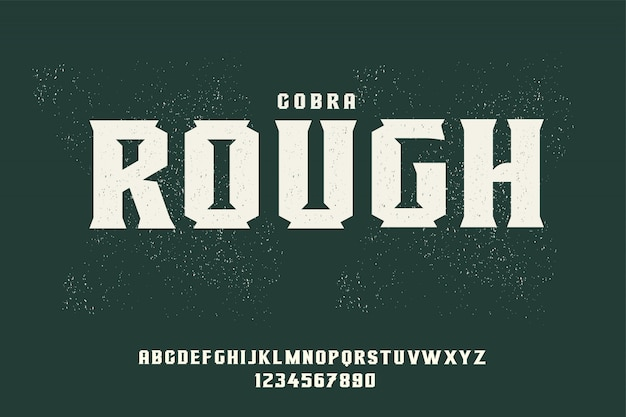 Bold rough typeface with textured effect