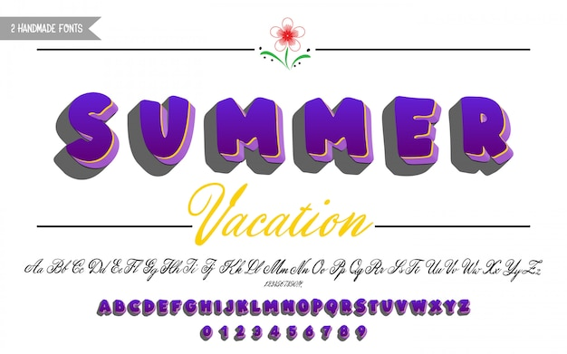 Bold and script calligraphy font