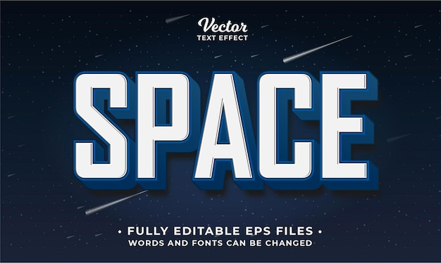 Bold space text effect editable eps cc words and fonts can be changed