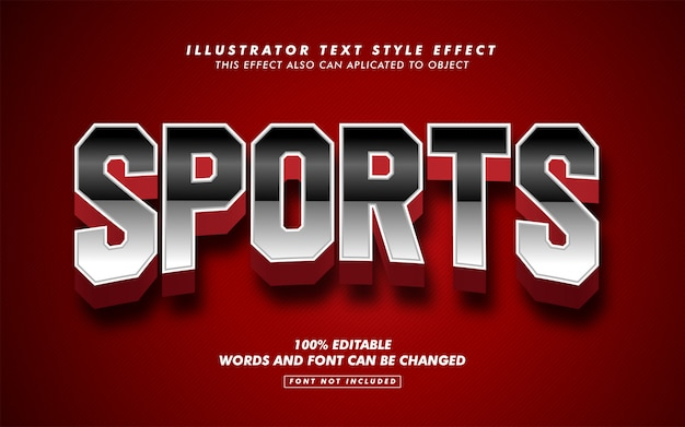 Bold sport text style effect mockup