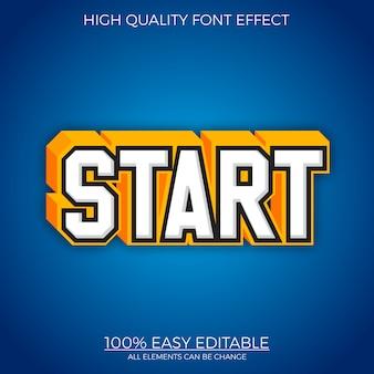 대담한 강력한 3d 텍스트 스타일 편집 가능한 글꼴 효과