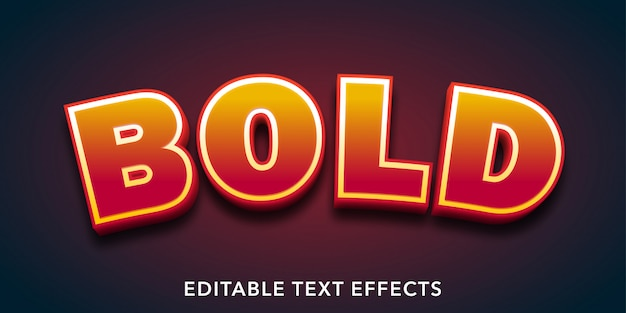 Bold text 3d style editable text effect
