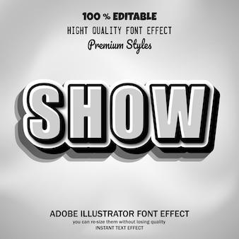 Bold text, editable font effect