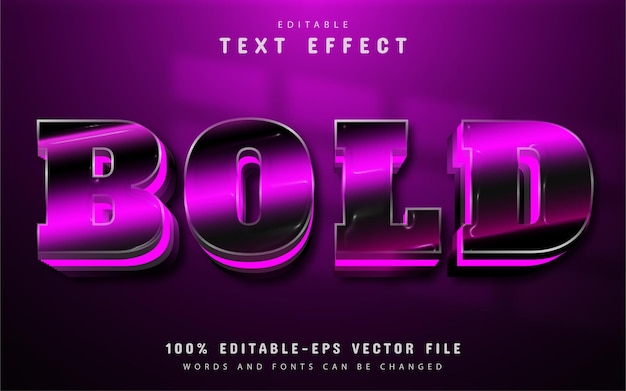 Bold text, purple gradient style text effect