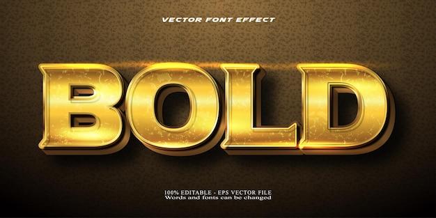 굵은 텍스트, 빛나는 황금 스타일 편집 가능한 텍스트 효과