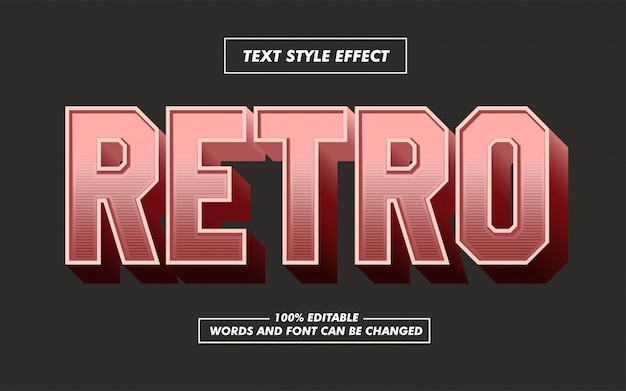 Bold text style effect
