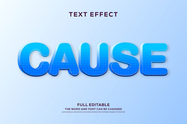 Bold text style with blue gradient and texture effect