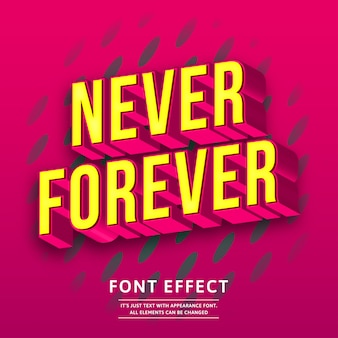 Bold trendy tittle 3d isometric text effect