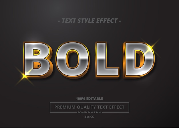 Bold vector text style effect