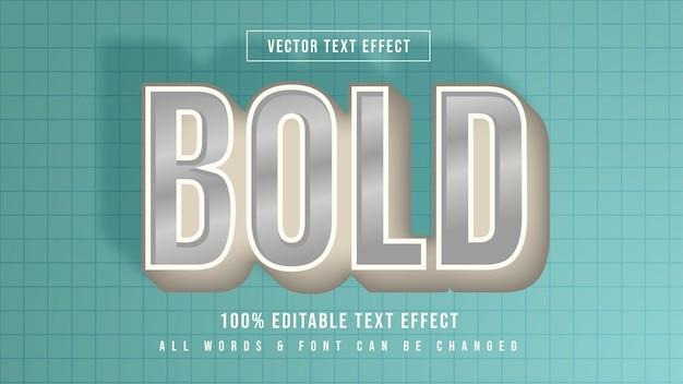Bold vintage retro 3d text style effect. editable bold  illustrator text style.