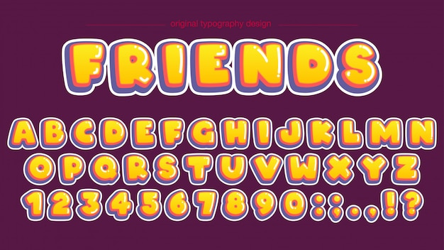 Bold yellow bubble typography design