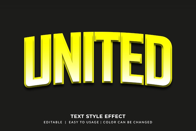 Bold yellow text style with bevel effect