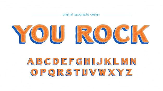 Оранжевый bold типография с узором и тенями
