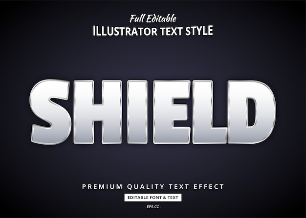 Bold элегантный текстовый эффект