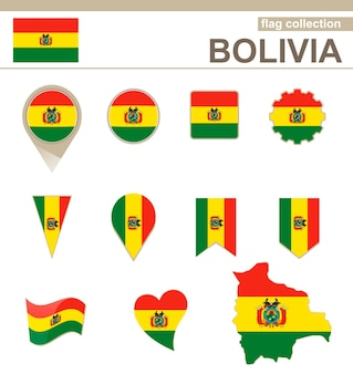 볼리비아 국기 컬렉션, 12개 버전
