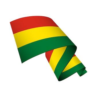Bolivia flag wavy isolated